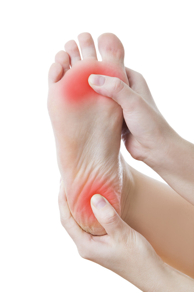 Heel pain - also known as plantar fasciitis